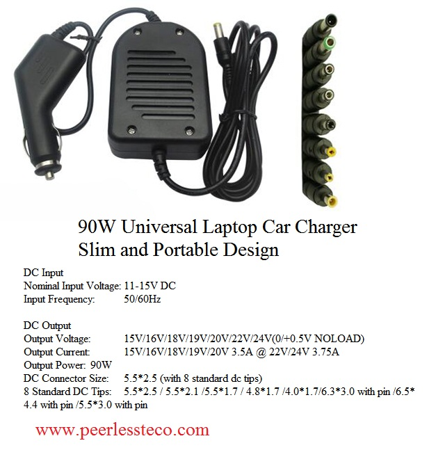 90W Universal charger Laptop Charger and Car Charger